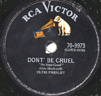 DON'T BE CRUEL / LOVE ME TENDER